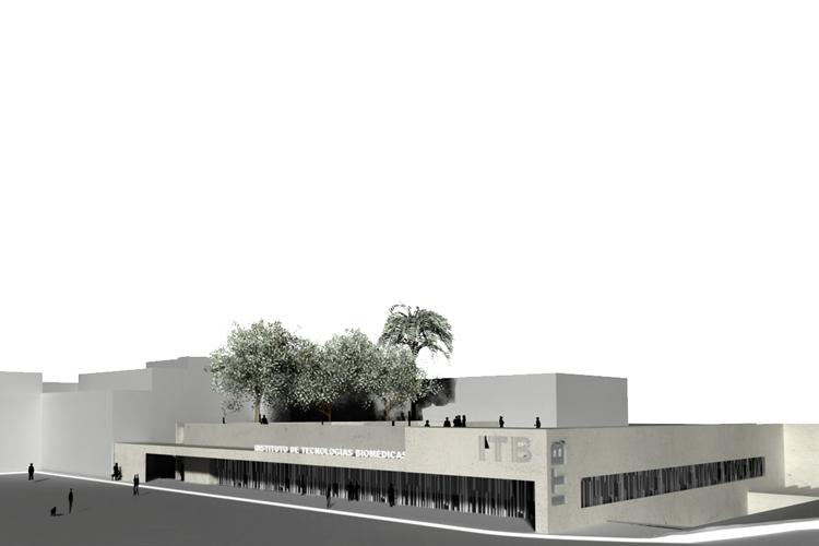 Vista general del Instituto de Tecnologías Biomédicas desde la calle