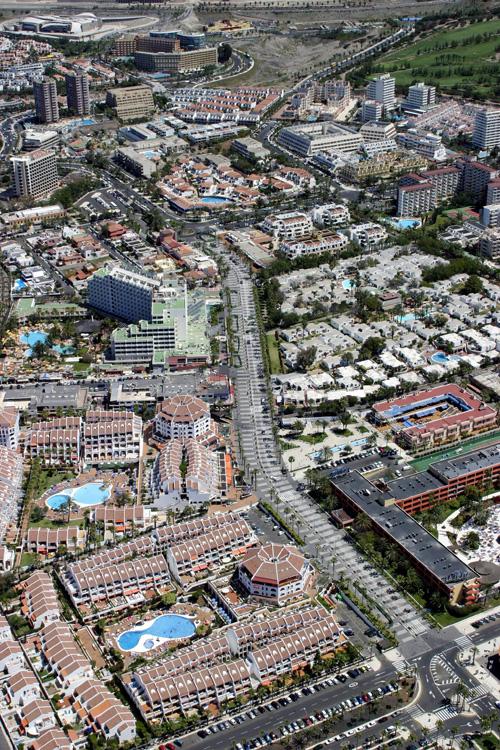 Vista aérea de la avenida Rafael Puig