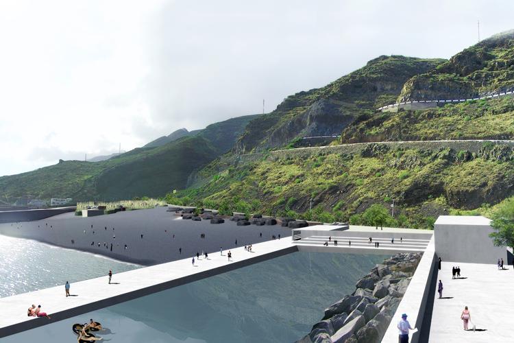 Vista general de la propuesta para playa y varadero en el Hierro