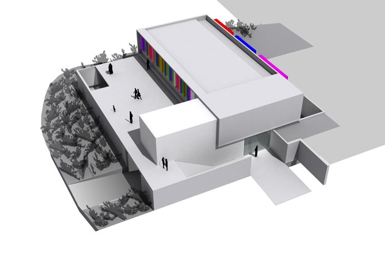 Infografía de vista general del edificio