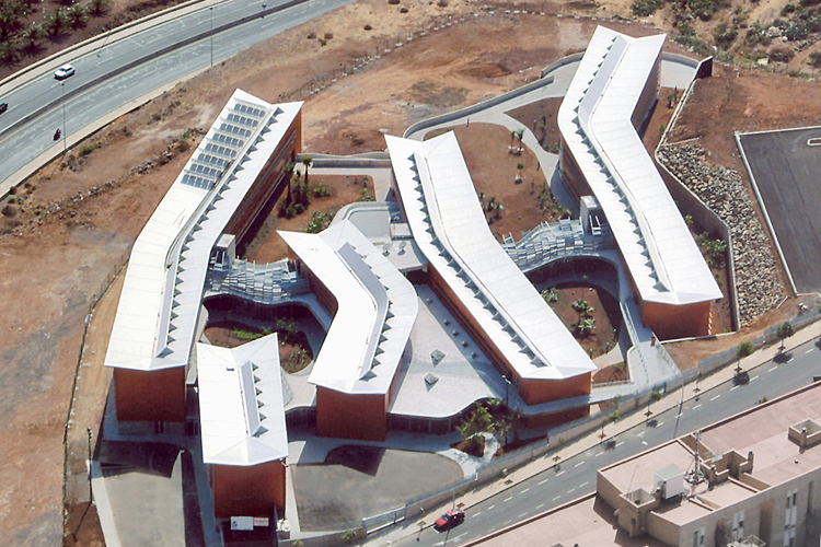 Vista aérea del hospital Nuestra Señora de los Dolores