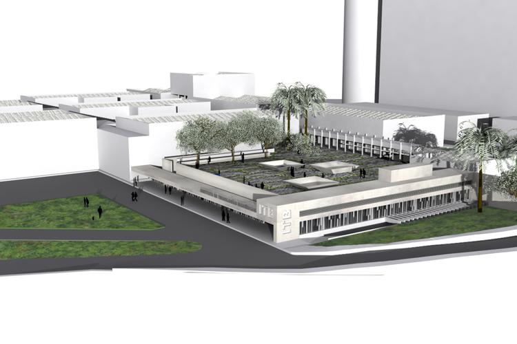 Vista aérea del Instituto de Tecnologías Biomédicas desde la calle
