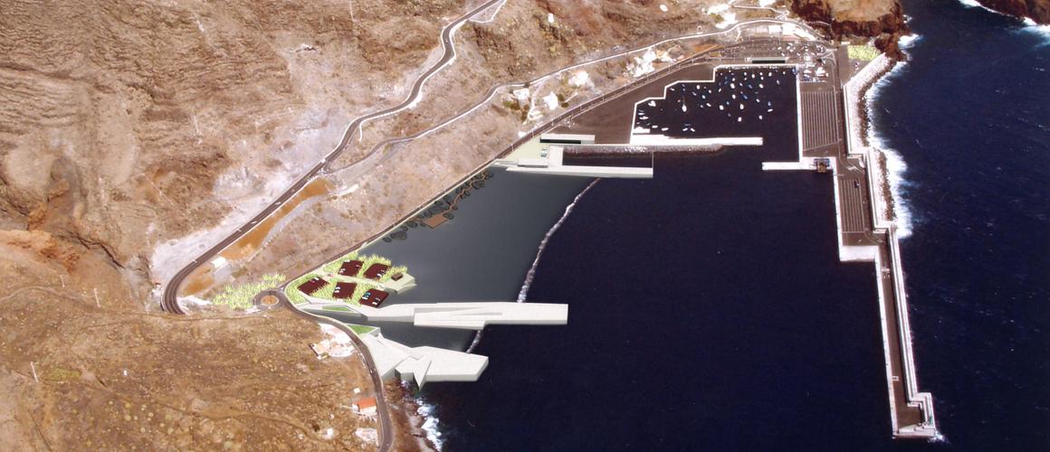 Vista áerea de la propuesta para el concurso de la Playa del Varadero y su Entorno