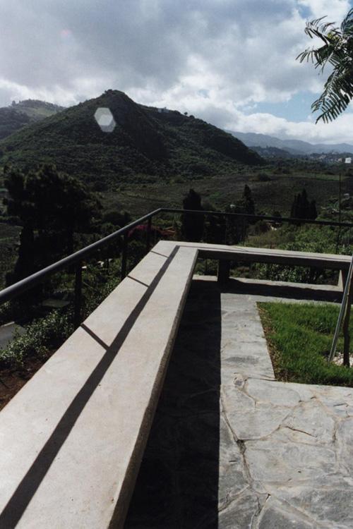 Vistas del entorno desde el patio de la casa