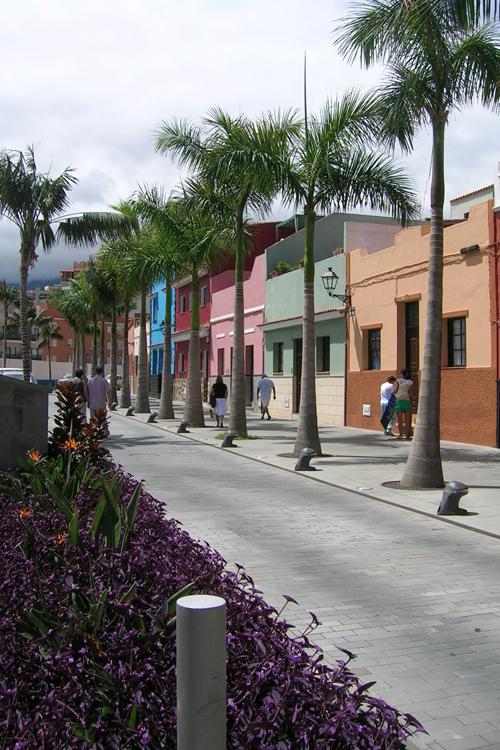 Vista de la calle Mequinez en primer plano jardinera
